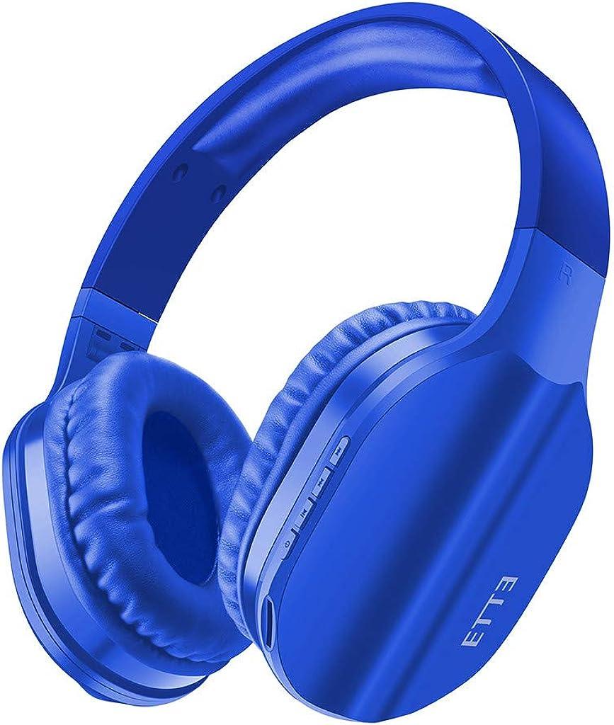 Bluetooth Inalámbrico,ZARLLE Auriculares de Diadema Portatiles con Micrófono, FM Radio Manos Libres y TF Tarjeta Almohadillas Suaves para iPad, iPhone, Móviles Android, PC