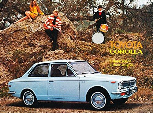 Toyota Corolla Catalog - 1969 Toyota Corolla Original Car Sales Brochure Catalog - 77662 ID