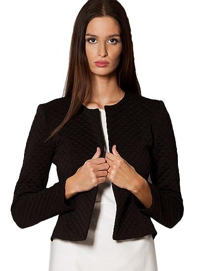 check-out c737d 4bb45 Femme Veste Courte Femmes Vestes Blazer Chic Casual Tailleur Elégante  Veste-Boléro Taille 36 38 40 42 (208)