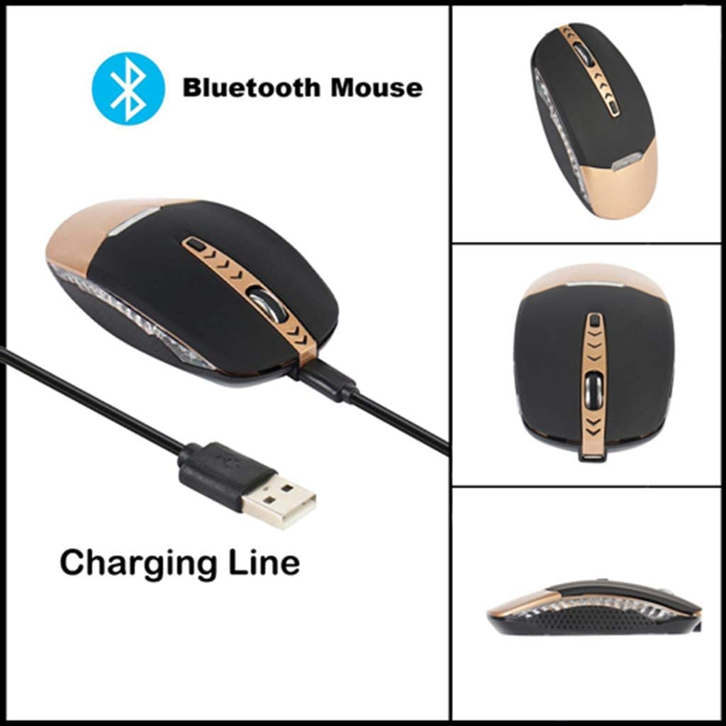 BINGFEI 2019 New 1600DPI Rechargeable 4 Keys Bluetooth Wireless Mouse Optical Mice for Pc Laptop