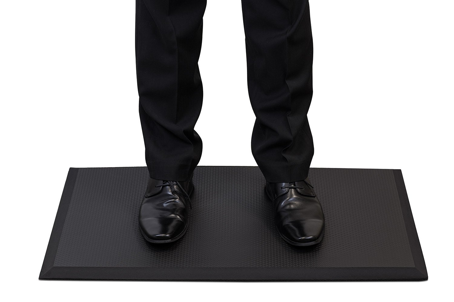 Mount-It! Anti-Fatigue Mat For Standing Desk, Kitchens, Garages, Premium Quality Rubber Gel, 17.7 inches (W) x 29.5 inches (L), Soft Ergonomic Comfort, Black