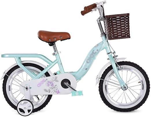 ZMDZA de los niños Bicicleta, Ciclo de Niños Bicicletas Bicicleta de los niños for niña y niño 12 14 16 Pulgadas con Rueda de Formación (Color : A, Size : 14 Inches): Amazon.es: Hogar