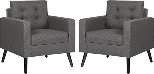 Best living room chair: STHOUYN Modern Upholstered Comfy Accent Chair Set of 2