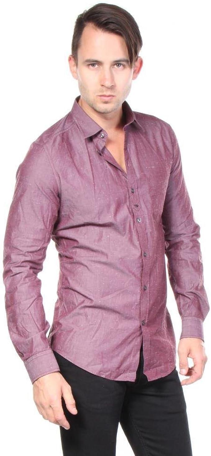 Diesel S-Nami Camisa Hombre (S, Burdeos): Amazon.es: Ropa y accesorios