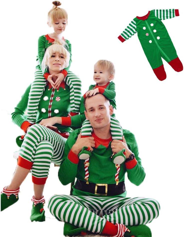 Famiglia Pigiama Natale Set Mother Realizzato da Elfi Elfo Squadra Pjs Corrispondente Famiglia Natale Pigiama Elfo Uomo Donna Bambino Neonato,L
