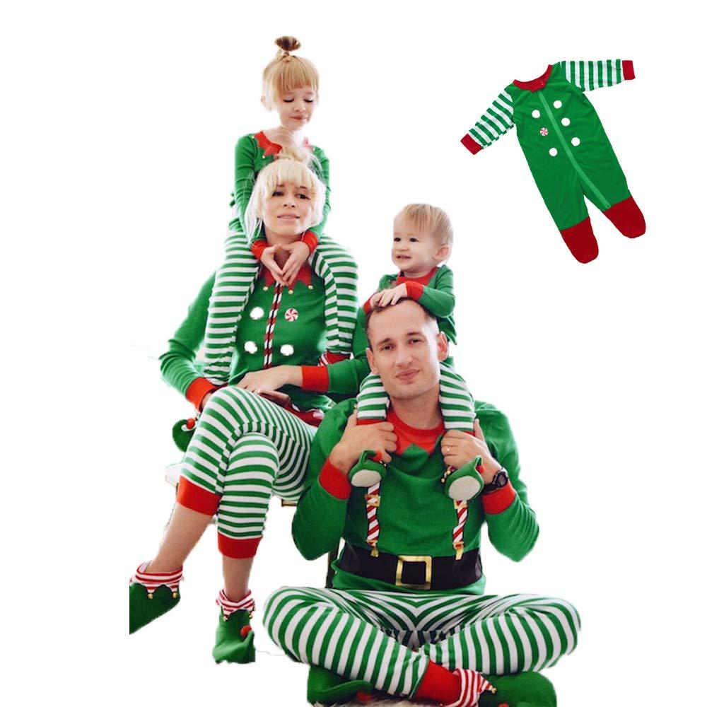 Famiglia Pigiama Natale Set Kids Realizzato da Elfi Elfo Squadra Pjs Corrispondente Famiglia Natale Pigiama Elfo Uomo Donna Bambino Neonato,130