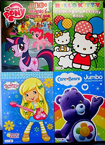 DBK Gifts 4 Girls Coloring Book Classic Characters Strawberry Shortcake Hello Kitty