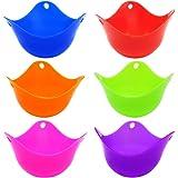 6 Pcs Silicone Egg Poachers Cups, SENHAI BPA Free Egg Mold Egg Boiler Cups