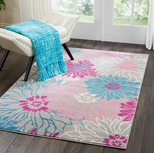 Nourison Passion Area Rug, 3'9' x5'9, Grey