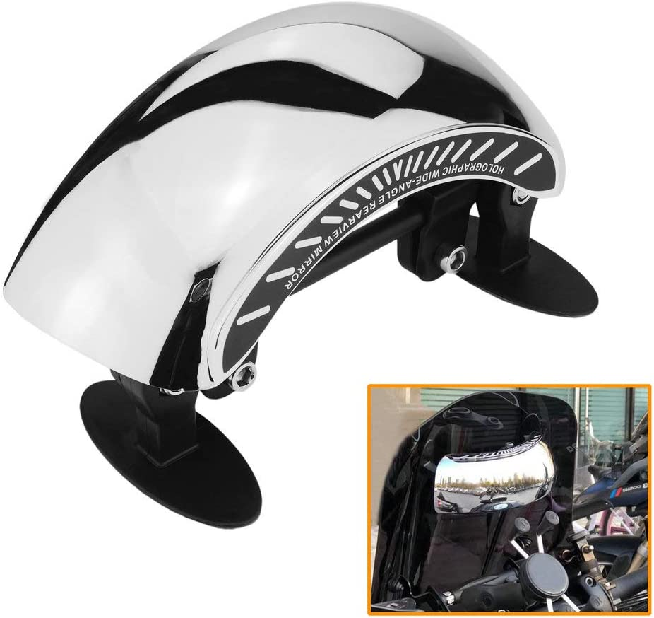 QIDIAN for Vespa Motorcycle Windshield Windscreen Rearview View Safety Mirrors Panoramic Central Scooter 180 Degree Wide Angle Rear View Mirrors