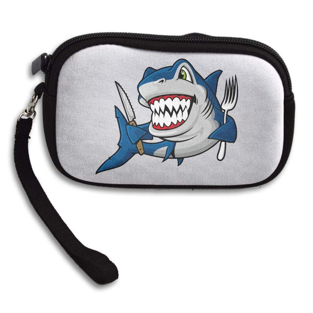 Shark Laugh Custom Zip Handbag Coin Purse Change Cash Wallet