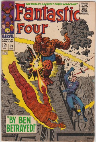 Fantastic Four #69 Silver Age Marvel Comic