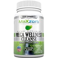 Mega Wellness Internal Cleanse Cleansing Complex – Natural Herbal Detox Cleanse – 90 caplets