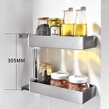 Amazon.com: Estantería de cocina de metal para colgar en la ...