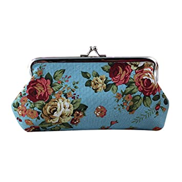 wdoit Mode Rose Carteras multifu nki onelle portamonedas Bolsa Coin Purse Pouch Mini Mujer – Neceser