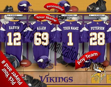 Amazon.com   Minnesota Vikings Team Locker Room Clubhouse ... e00edfcea