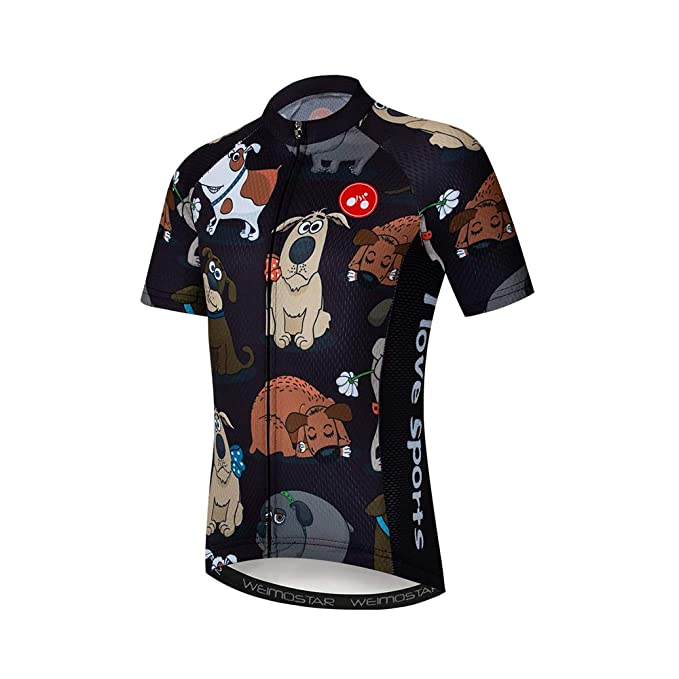 905f3c14e Image Unavailable. Image not available for. Color  Weimostar Children s Cycling  Jersey Short Sleeve Full Zipper Kids Bike Shirt