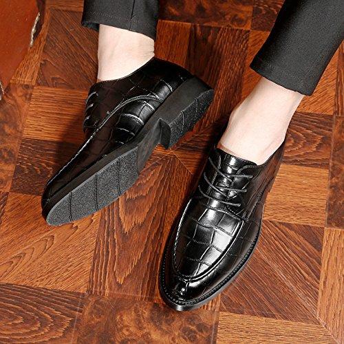 Hommes Britanniques pour pour Hommes de Hommes Rétro de Chaussures Black Chaussures pour Travail DHFUD Chaussures Travail Coréens ZR6qP