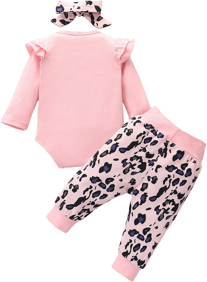 0-24 Mois Pantalon Imprim/é Floral Bandeau Carolilly V/êtement B/éb/é Fille de 3 Pi/èces Barboteuse /à Manches Longues Imprim/é Mama s Girs