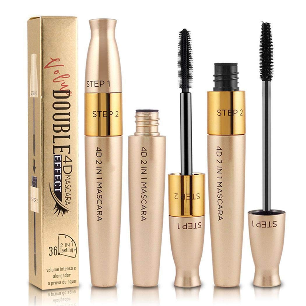 Zimrio Mascara imperméable mascara double tête de curling épais durable Mascaras