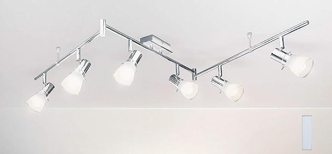 Trango 6-llama Proyector de techo LED, luz de techo, luz de techo ...