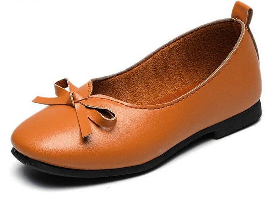Bumud Girl's School Uniform Mary Jane Flat Dress Shoe (Toddler/Little Kid) (10 M US Toddler, Brown)