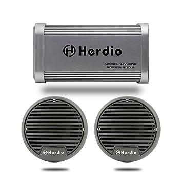 Motocicleta amplificador Marino amplificador 500 W Altavoces Bluetooth sistema de sonido de audio con 3 pulgadas