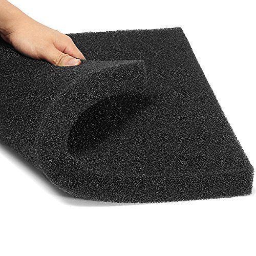 Aquarium Biochemical Cotton Filter Foam Fish Tank Sponge 50x50x2.5cm by (Filter Aquarium Pads)