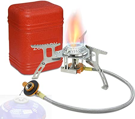 Hornillo de gas zoeson portable en aire libre