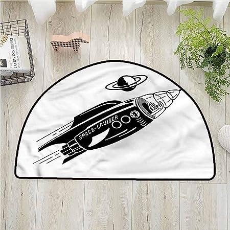 Alfombra de dormitorio con diseño de cohete espacial para silla de ...