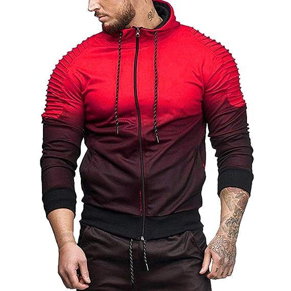 75500a24c486 VECDY Herren Pullover,Herren Sweater Streifen Farbverlauf Sweatshirt ...