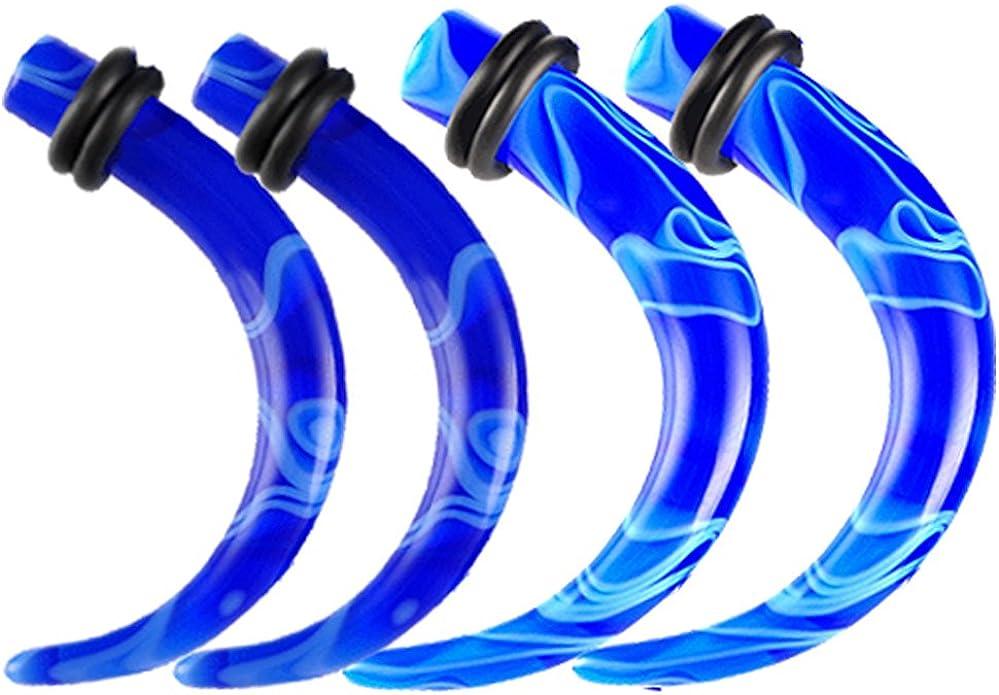 1 PAIR 4g Marble Ear Taper Plug Stretcher Expander Gauges Choose Color