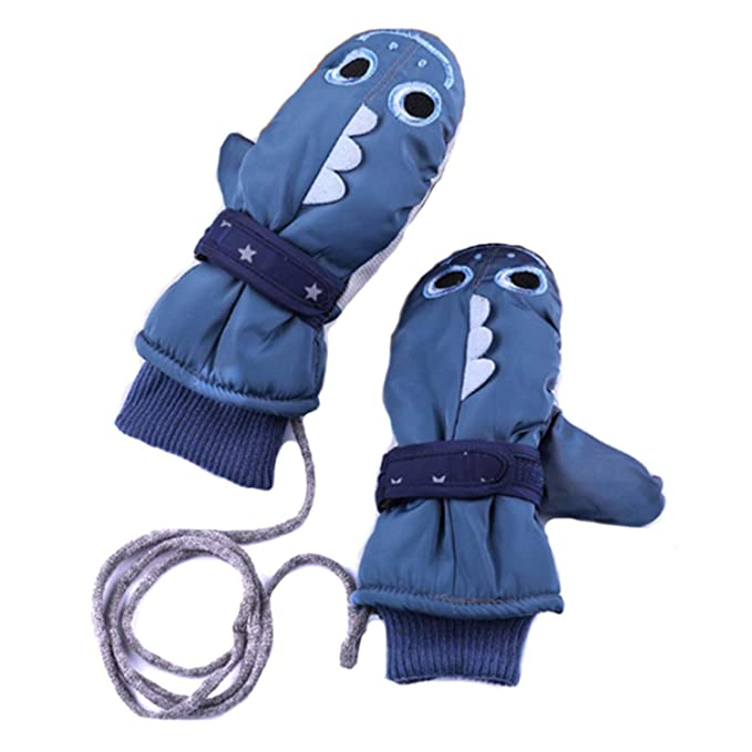 Winter Warm Windproof Snowproof Outdoor Thermal Gloves for Boys /& Girls Aged 3-8 Aibrou Kids Waterproof Lined Mittens