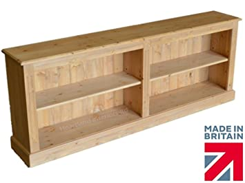 Pine Bookcase 2ft 4 Tall X 6ft Wide Low Solid Pine Split Shelving Adjustable Bookshelves Choice Of Finishes No Flat Packs No Assembly Bk13