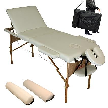 Accessori Lettino Massaggio.Tectake Lettino Massaggi Estetista Massaggio Portatile Beige Accessori Borsa