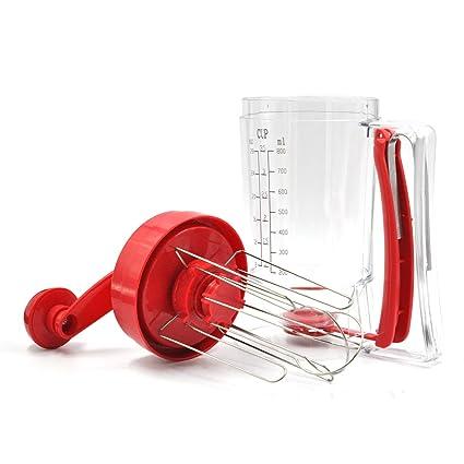 Prokitchen Dispensador de mantequilla y mezclador de pancake, con etiqueta de medición para Cupcakes,