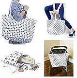 JJMG NEW Summer Beach Bag Stroller Friendly Women's Large Capacity Mom's Tote Beach Shoulder Bag With Rope Handles –Shopping Bag, Diaper Bag, Yoga Bag, Toys, Towels, Swim Suits, etc. (Mini Lifesavers)