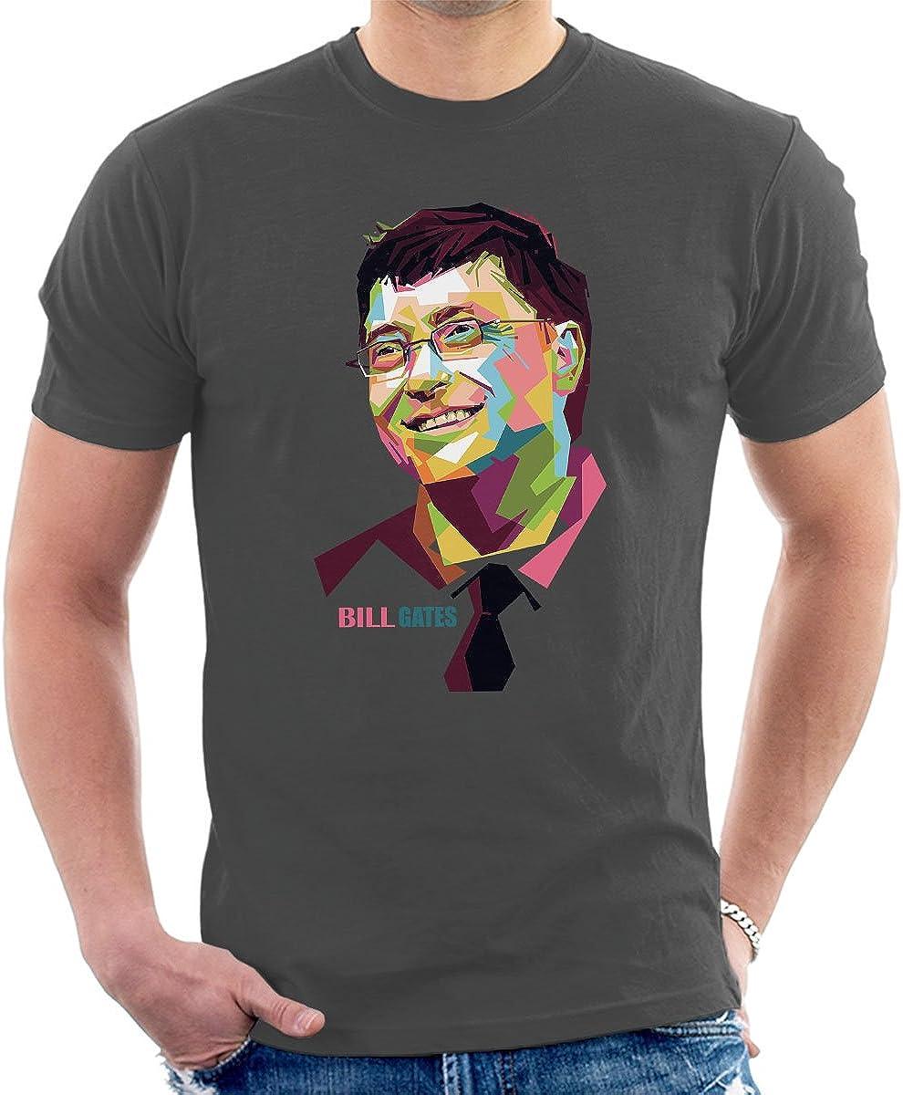 Geometric Celebrity Bill Gates Men's T-Shirt: Amazon.de: Bekleidung