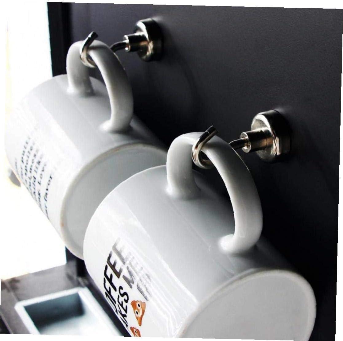 Aisoway 6 St/ück Starke Magnetische Haken Heavy Duty Neodym-Erde-Magnet-Haken NI Starke Korrosionsschutz