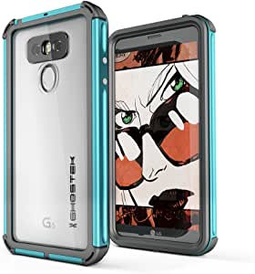 Ghostek LG G6 Waterproof Case, Atomic 3 Series for LG G6 Underwater Cover Shockproof Shock Absorption Dustproof Aluminum Rubber Dual Layer Bumper Heavy Duty Rugged Armor Swimming Immersible (Teal)