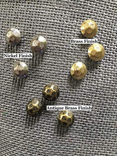 Be Transformed Studio - Premium Nail Head Metal Magnets with Very Strong Neodymium Rare Earth Magnets Choose Nickel, Brass and Antique Brass Finish & Set of 6, 12 or 18