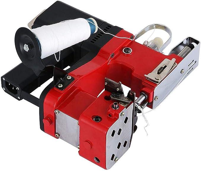HUKOER Máquina de cierre de bolsas rojas Máquina de coser portátil ...