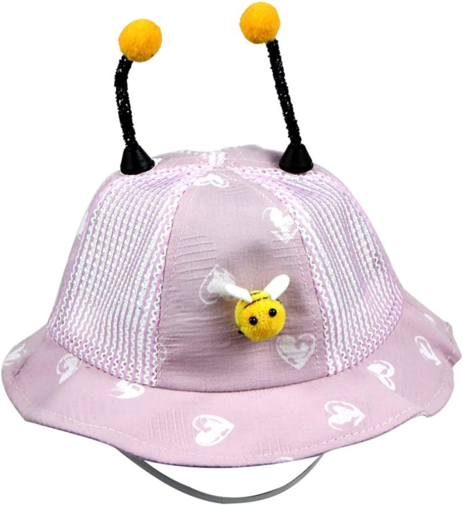 2019 Hot Sale Baby Sun Hat,Cuekondy Toddler Girls Boys Cute Cartoon Bee Ears Summer Sun Protection Bucket Hat Mesh Cap