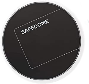 Safedome Qi Standard Wireless Fast Charging Pad, Wirelessly Charge Your Bluetooth Tracking Card, Phone, Headphones, Watches, or Any Compatible Qi Device
