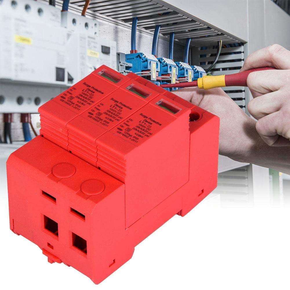 austauschbar w/ährend der Arbeit kleiner Leckstrom schnelle Reaktion 3p20ka /Überspannungsschutz-/Überspannungsschutzger/ät 3P mit 3,0 kV Gleichstrom f/ür Blitzschutz 1000 V