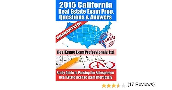 Amazon.com: 2015 California Real Estate Exam Prep Questions and ...