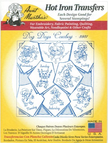 Aunt Marthas Embroidery Transfers (Dog Days Cowboy Aunt Martha's Embroidery Transfer)