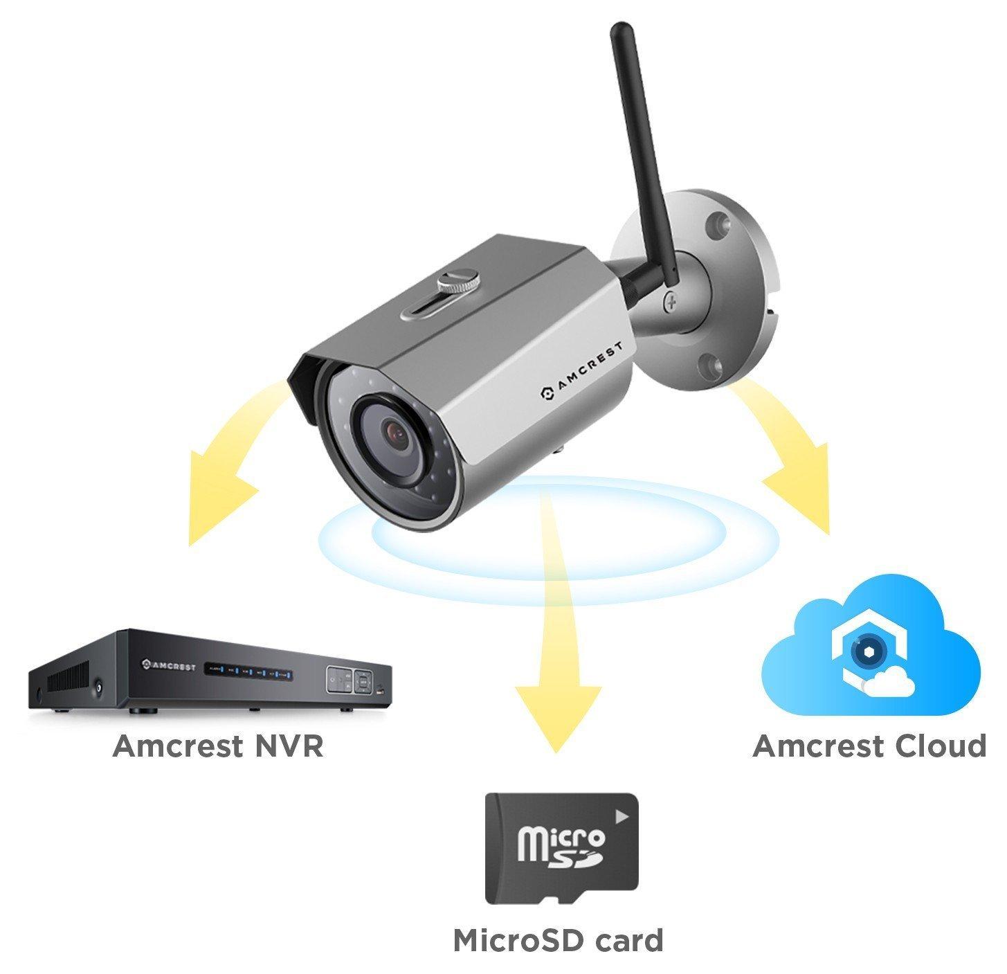 IP67 Weatherproof IP3M-943B 1080P//1296P 2304 x 1296P Black Amcrest ProHD Outdoor 3-Megapixel Renewed 3MP WiFi Wireless IP Security Bullet Camera