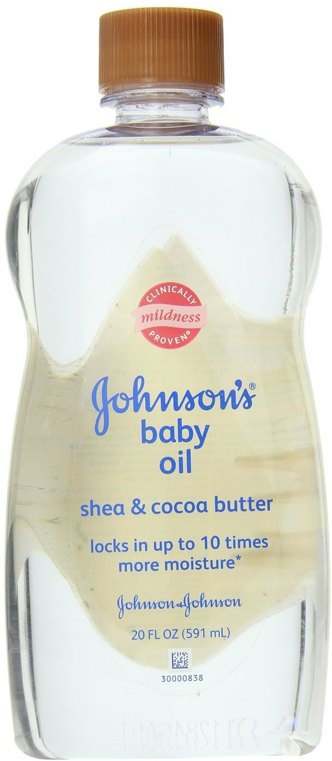 JOHNSON'S Baby Oil Shea & Cocoa Butter 20 oz (Pack of 8) by Johnson's