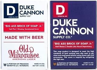 product image for Duke Cannon Supply Co. - Big Ass Brick of Soap Jr. Variety Gift Set (2 Pack of 4.5 oz) Superior Grade Soap Designed for Hardworking Men - Smells Like Naval Supremacy Soap & Beer Soap